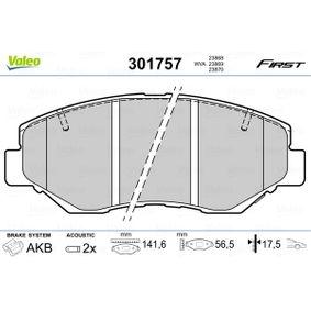 2006 Honda CR-V Mk2 2.2 CTDi (RD9) Brake Pad Set, disc brake 301757