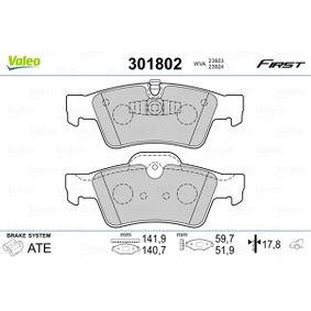 Комплект спирачно феродо, дискови спирачки 301802 M-класа (W164) ML 320 CDI 3.0 4-matic (164.122) Г.П. 2006