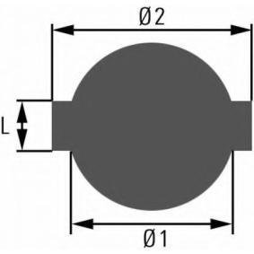 HELLA  8XY 005 067-001 Verschluss, Kraftstoffbehälter Innendurchmesser: 34mm