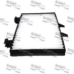 Filter, Innenraumluft Länge: 220mm, Breite: 155mm, Höhe: 25mm mit OEM-Nummer MR360889