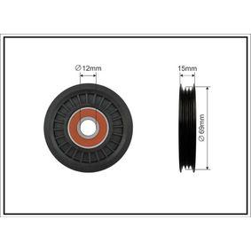 2012 Nissan Note E11 1.4 Deflection / Guide Pulley, v-ribbed belt 313-00