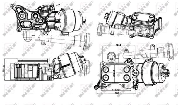 Vauxhall Corsa C//Meriva a Enfriador De Aceite Manguera 97351101 Nuevo Original