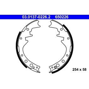 Bremsbackensatz Breite: 58mm mit OEM-Nummer 650226