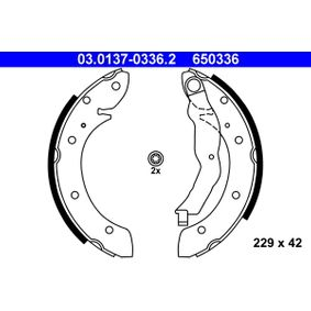 Bremsbackensatz 03.0137-0336.2 Scénic 1 (JA0/1_, FA0_) 1.6 Bj 2003