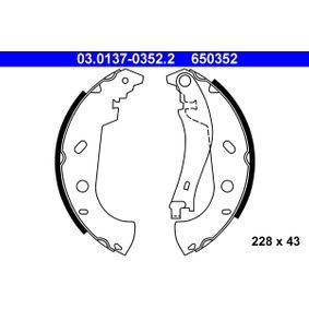 Brake Shoe Set Width: 43mm with OEM Number 65 03 52