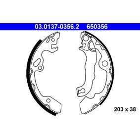 Bremsbackensatz Trommel-Ø: 203, Breite: 38mm mit OEM-Nummer 1075549