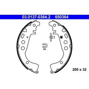 Brake Shoe Set Width: 32mm with OEM Number 6 50 364