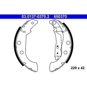 Brake Shoe Set Width: 42mm with OEM Number 650370