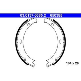 Bremsbackensatz, Feststellbremse Breite: 20mm mit OEM-Nummer 65 03 85