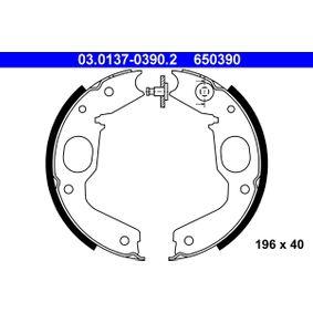 Bremsbackensatz, Feststellbremse Breite: 40mm mit OEM-Nummer 650390
