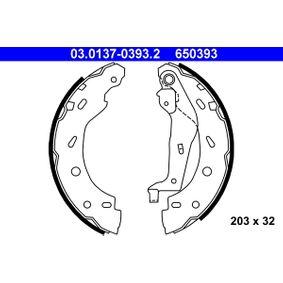 Bremsbackensatz Breite: 32mm mit OEM-Nummer 650393