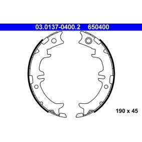 Brake Shoe Set, parking brake Width: 45mm with OEM Number 650 400