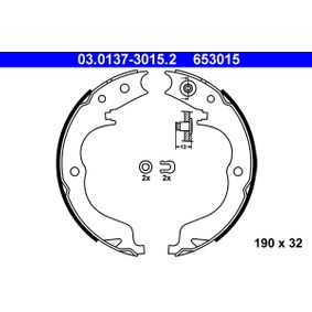 Bremsbackensatz, Feststellbremse 03.0137-3015.2 IMPREZA Schrägheck (GR, GH, G3) 2.5 WRX STI AWD (GRF) Bj 2013