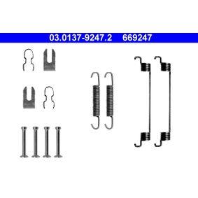 Accessory Kit, brake shoes 03.0137-9247.2 PUNTO (188) 1.2 16V 80 MY 2000