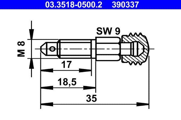 ATE  03.3518-0500.2 Entlüfterschraube / -ventil