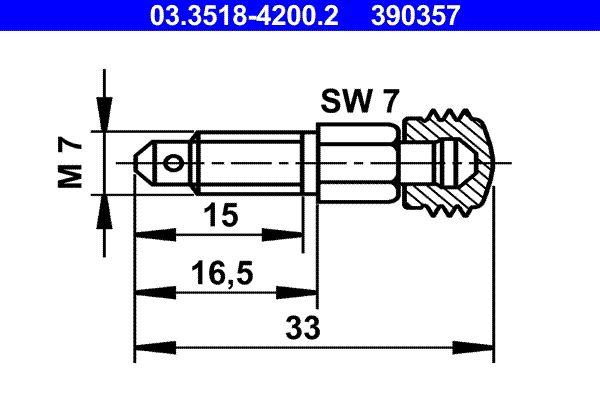 ATE  03.3518-4200.2 Entlüfterschraube / -ventil