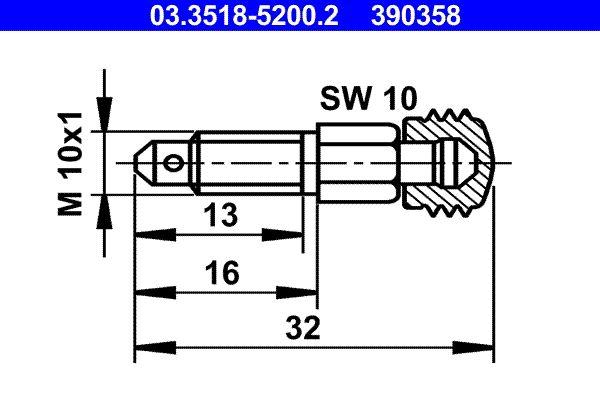 ATE  03.3518-5200.2 Entlüfterschraube / -ventil