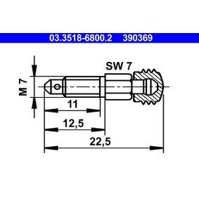 ATE  03.3518-6800.2 Entlüfterschraube / -ventil