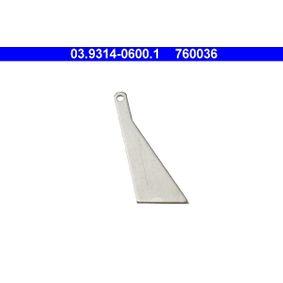 ATE 20°-шаблон за реглаж на буталце на спир. апарат 03.9314-0600.1