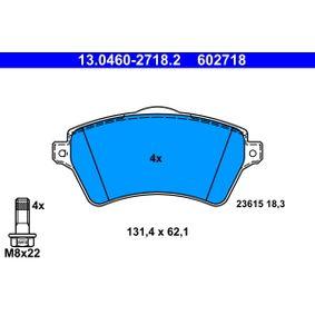 Bremsbelagsatz, Scheibenbremse Breite: 131,4mm, Höhe: 62,1mm, Dicke/Stärke: 18,3mm mit OEM-Nummer 236.15