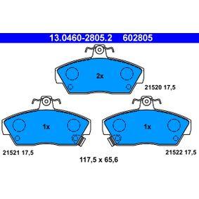 Bremsbelagsatz, Scheibenbremse Breite: 117,5mm, Höhe: 65,6mm, Dicke/Stärke: 17,5mm mit OEM-Nummer GBP90314