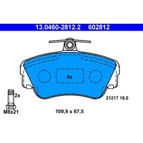 Brake Pad Set, disc brake Width: 109,9mm, Height: 67,5mm, Thickness: 18,0mm with OEM Number 3 344 787