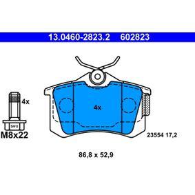 Sensor del Pedal del Acelerador PEUGEOT 307 SW (3H) 1.6 BioFlex de Año 09.2007 109 CV: Juego de pastillas de freno (13.0460-2823.2) para de ATE