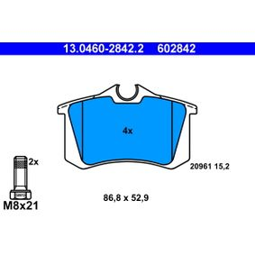 Bremsbelagsatz, Scheibenbremse Art. Nr. 13.0460-2842.2 120,00€