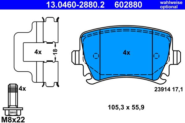 Bremsbelagsatz ATE 23914 Bewertung