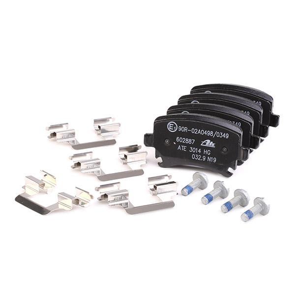 Комплект спирачно феродо, дискови спирачки ATE 13.0460-2887.2 4006633201605