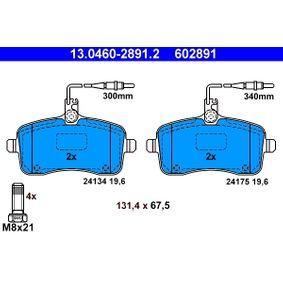 Bremsbelagsatz, Scheibenbremse Breite: 131,4mm, Höhe: 67,5mm, Dicke/Stärke: 19,6mm mit OEM-Nummer 4254-78