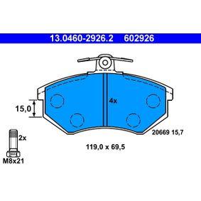 ATE Bremsbelagsatz, Scheibenbremse 13.0460-2926.2 für AUDI 80 (81, 85, B2) 1.8 GTE quattro (85Q) ab Baujahr 03.1985, 110 PS
