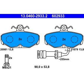 Bremsbelagsatz, Scheibenbremse Breite: 90,0mm, Höhe: 53,8mm, Dicke/Stärke: 13,8mm mit OEM-Nummer 1 111 283