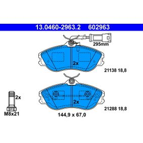 ATE Bremsbelagsatz, Scheibenbremse 13.0460-2963.2 für AUDI 80 (8C, B4) 2.8 quattro ab Baujahr 09.1991, 174 PS