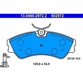 Motorhalter für VW TRANSPORTER IV Bus (70XB, 70XC, 7DB, 7DW) 2.5 TDI 102 PS ab Baujahr 09.1995 ATE Bremsbelagsatz, Scheibenbremse (13.0460-2972.2) für