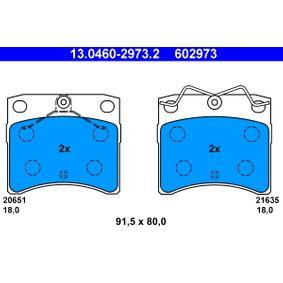 Motorhalter für VW TRANSPORTER IV Bus (70XB, 70XC, 7DB, 7DW) 2.5 TDI 102 PS ab Baujahr 09.1995 ATE Bremsbelagsatz, Scheibenbremse (13.0460-2973.2) für