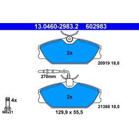 Bremsbelagsatz, Scheibenbremse Breite: 129,9mm, Höhe: 55,5mm, Dicke/Stärke: 18,0mm mit OEM-Nummer 77012-03070