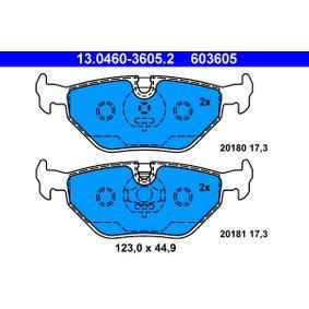 Kit pastiglie freno, Freno a disco (13.0460-3605.2) per per Pezzo per Bloccaggio ROVER 75 (RJ) 1.8 dal Anno 02.1999 120 CV di ATE