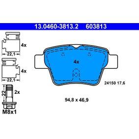 Sensor del Pedal del Acelerador PEUGEOT 307 SW (3H) 1.6 BioFlex de Año 09.2007 109 CV: Juego de pastillas de freno (13.0460-3813.2) para de ATE