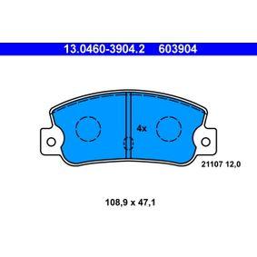 Bremsbelagsatz, Scheibenbremse Breite: 108,9mm, Höhe: 47,1mm, Dicke/Stärke: 12,0mm mit OEM-Nummer 5 888 939