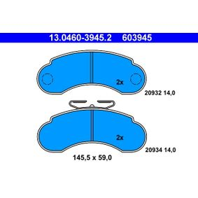 Bremsbelagsatz, Scheibenbremse Art. Nr. 13.0460-3945.2 120,00€
