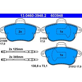 Bremsbelagsatz, Scheibenbremse Art. Nr. 13.0460-3948.2 120,00€