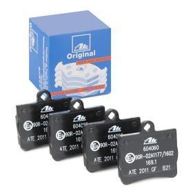 Bremsbelagsatz, Scheibenbremse Breite: 63,7mm, Höhe: 63,2mm, Dicke/Stärke: 15,0mm mit OEM-Nummer A 002 420 51 20