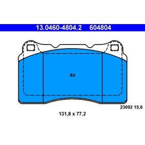 Bremsbelagsatz, Scheibenbremse 13.0460-4804.2 MEGANE 3 Coupe (DZ0/1) 2.0 R.S. Bj 2010