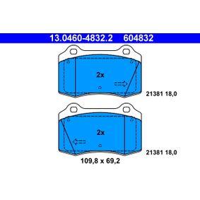Bremsbelagsatz, Scheibenbremse Breite: 109,8mm, Höhe: 69,2mm, Dicke/Stärke: 18,0mm mit OEM-Nummer 1 329 156