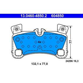 Bremsbelagsatz, Scheibenbremse Breite: 132,1mm, Höhe: 77,0mm, Dicke/Stärke: 16,3mm mit OEM-Nummer 7L0698451C