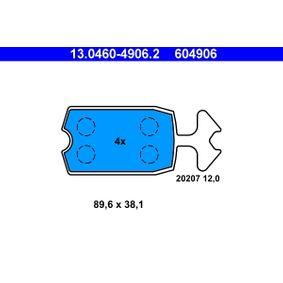 Bremsbelagsatz, Scheibenbremse Art. Nr. 13.0460-4906.2 120,00€