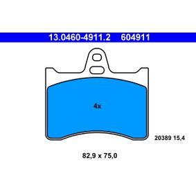 ATE  13.0460-4911.2 Bremsbelagsatz, Scheibenbremse Breite: 82,9mm, Höhe: 75,0mm, Dicke/Stärke: 15,4mm