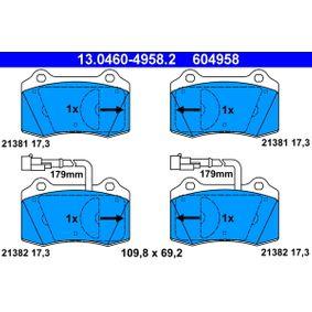 Bremsbelagsatz, Scheibenbremse Breite: 109,8mm, Höhe: 69,2mm, Dicke/Stärke: 17,3mm mit OEM-Nummer 5892740