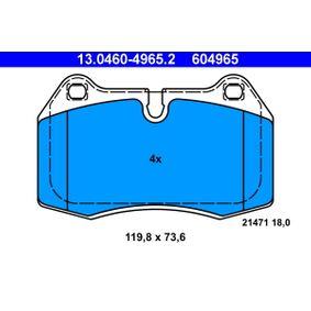 Bremsbelagsatz, Scheibenbremse Art. Nr. 13.0460-4965.2 120,00€